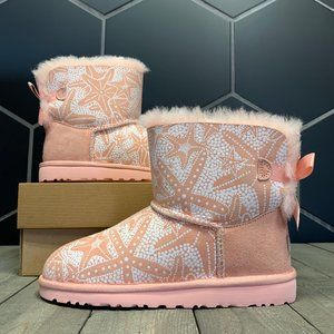 Kids UGG Mini Starfish Coral Pink Sheep Boots